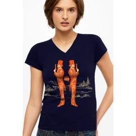 UZIPOV párbaj női póló